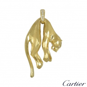 Cartier Yellow Gold and Diamond Panthere Pendant